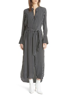 Equipment Connell Stripe Maxi Silk Shirtdress