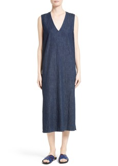 Equipment Connery Denim Midi Shift Dress