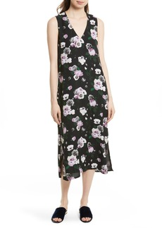 Equipment Connery Floral Silk Midi Dress