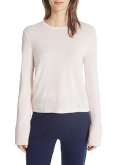 Equipment Courtley Bell Sleeve Crop Cashmere Sweater