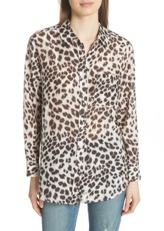 Equipment Daddy Leopard Print Blouse