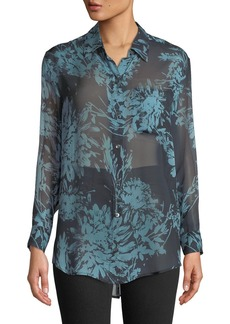 Equipment Daddy Long-Sleeve Button-Front Floral-Printed Blouse