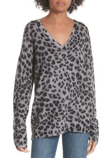 Equipment Dee Leopard Print Cashmere Sweater