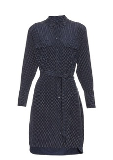 Equipment Delaney micro-dot print silk shirtdress