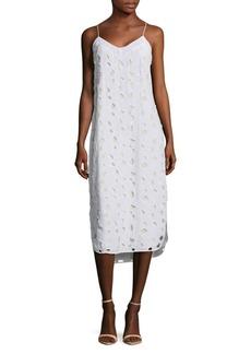 Equipment Dian Cutout Silk Slip Dress