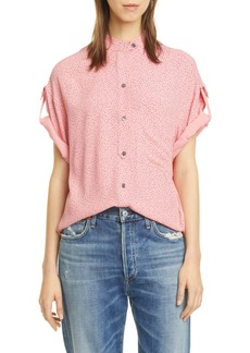 Equipment Drace Oversize Button-Front Shirt