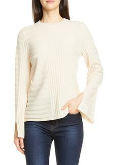 Equipment Emmaline Mixed Rib Wool & Cashmere Sweater