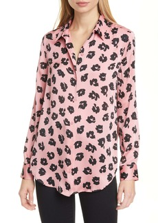 Equipment Essential Floral Print Satin Blouse