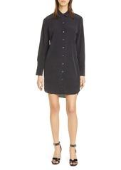 Equipment Essential Long Sleeve Silk Shirtdress