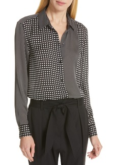 Equipment Essential Mixed Check Button Front Shirt