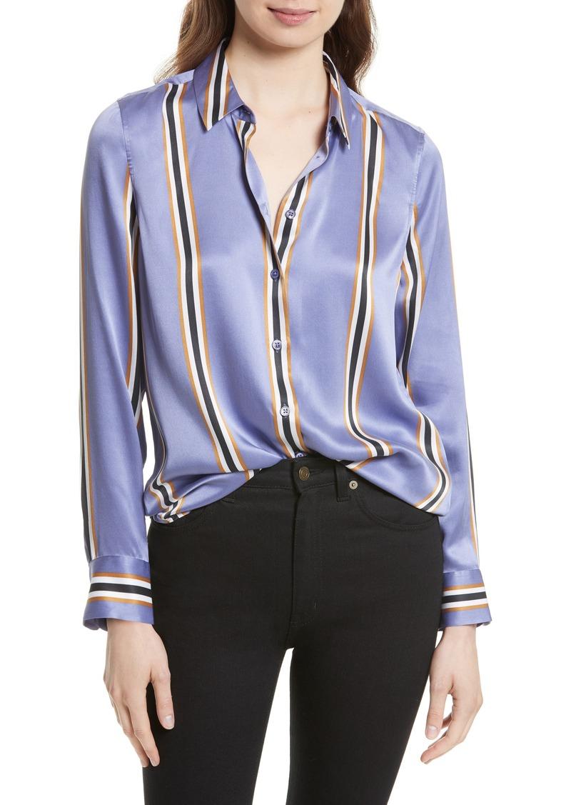 equipment equipment essential print silk shirt casual