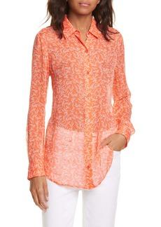 Equipment Essential Silk Chiffon Button-Up Shirt