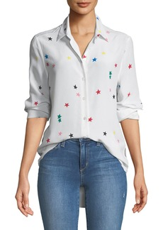 Equipment Essential Star-Print Silk Shirt