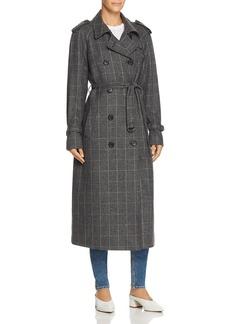 Equipment Everton Checkered Trench Coat