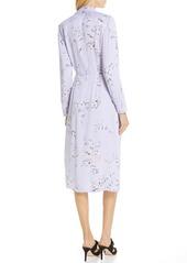 Equipment Fabienne Asymmetrical Button Front Silk Blend Midi Dress