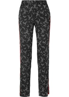 Equipment Florence striped printed silk-satin straight-leg pants