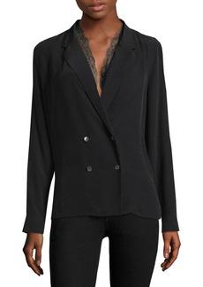 Equipment Frances Lace Trimmed Suiting Silk Blouse