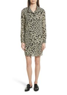 Equipment Freda Floral Print Silk Shirtdress