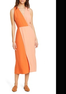 Equipment Galane Colorblock Crepe Dress