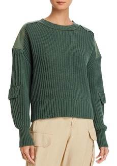 Equipment Gelsey Cotton Long Sleeve Utility Sweater