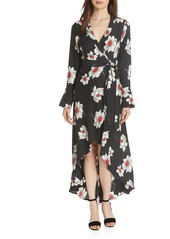 Equipment Gowin Floral High Low Silk Dress