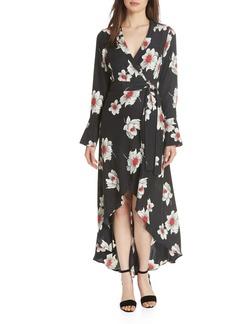 Equipment Gowin Floral High Low Silk Dress