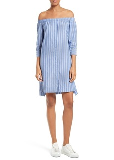 Equipment Gretchen Off the Shoulder Stripe Dress
