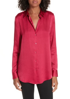 Equipment Hammered Satin Blouse