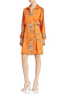 Equipment Harmon Floral Satin Wrap Dress