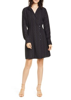 Equipment Harmon Long Sleeve Shirtdress