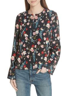 Equipment Heather Floral Silk Blouse