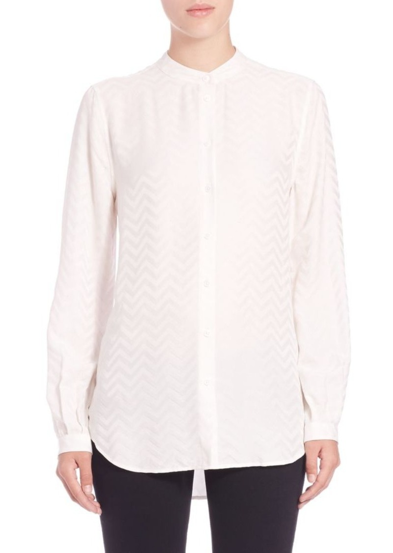 Equipment Henri Chevron Silk Shirt