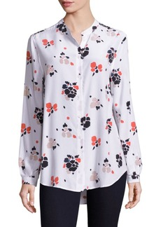 Equipment Henri Painted Blossoms Silk Blouse
