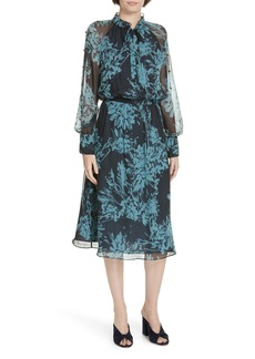 Equipment Henriette Silk Chiffon Dress