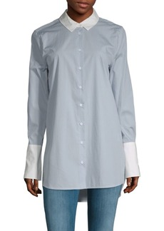 Equipment Hi-Lo Cotton Button-Down Shirt