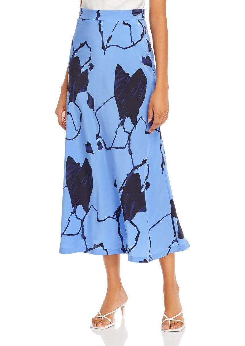 Equipment Iva Silk Printed Skirt