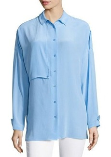 Equipment Jaime Long-Sleeve Silk Blouse