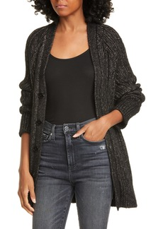 Equipment Jeannane Cable Knit Long Cardigan