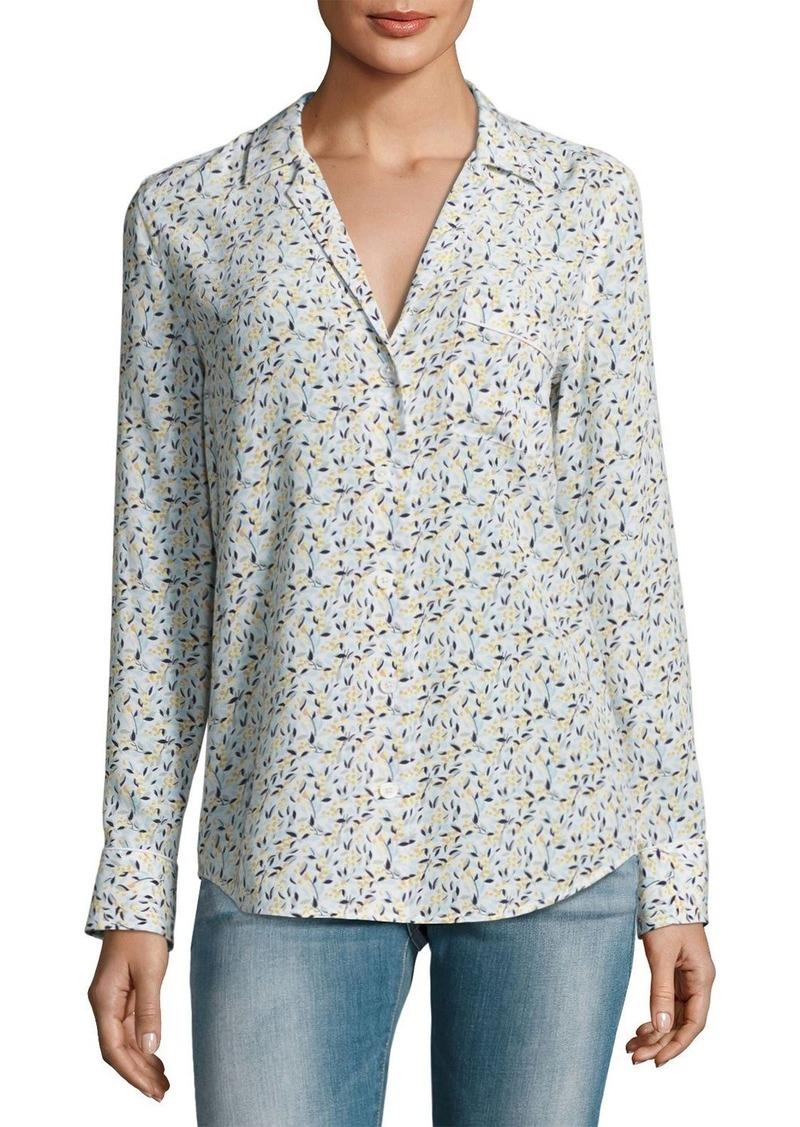 Equipment equipment keira long sleeve silk shirt casual for Silk long sleeve shirt