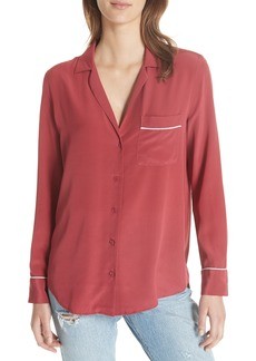 Equipment Keira Piped Silk Shirt