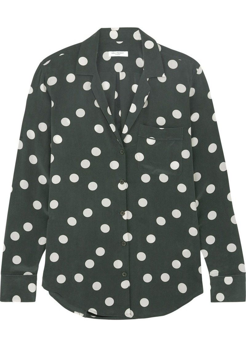 76daeb6bf99d8a Equipment Equipment Keira polka-dot washed-silk shirt