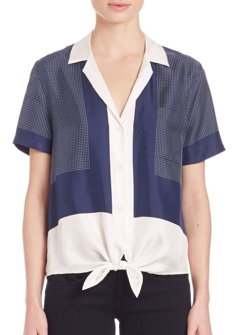 Equipment Keira Silk Tie-Front Blouse