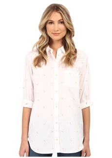 EQUIPMENT Kenton Button Up with Banana Embroidery