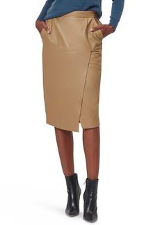 Equipment Khloelle Faux Leather Skirt