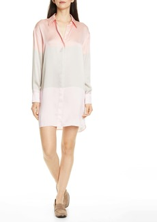 Equipment Lacene Long Sleeve Silk Shirtdress