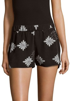 Equipment Landis Floral-Printed Shorts