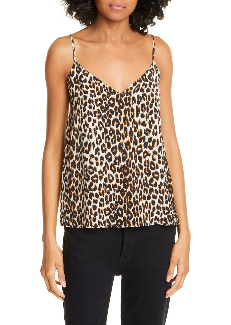 Equipment Layla Leopard Print Silk Camisole