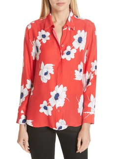 Equipment Leema Floral Print Silk Shirt