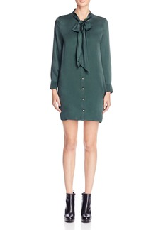 Equipment Leema Tie Silk Shirt Dress