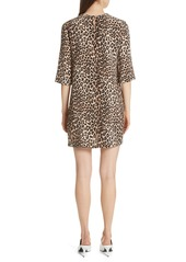 Equipment Leopard Print Silk Shift Dress